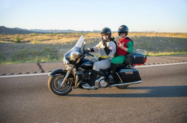 Rider and WIS pillion