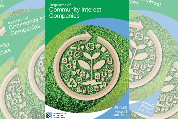 Front page of the annual report for community interest companies for 2018 to 2019