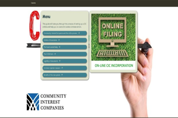 Showing what the online tool looks like when accessed