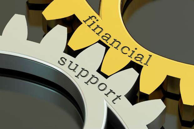 the words financial support
