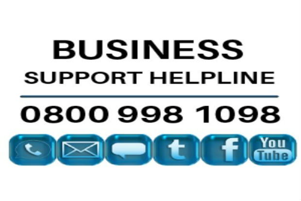 Business Support Helpline 0800 998 1098