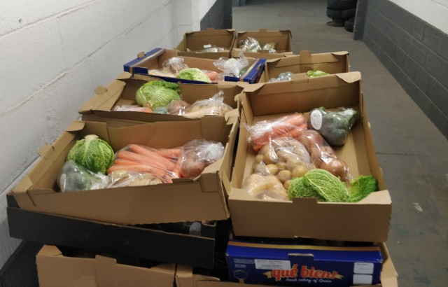 boxes of vegetables ready for delivery