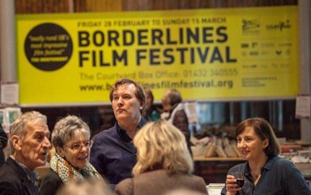 Visitors to the Borderline Film Festival