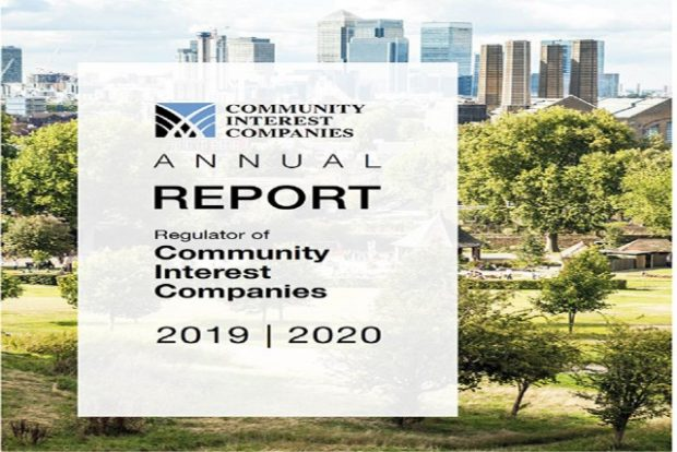 Community Interest Companies Annual Report cover for 2019-2020