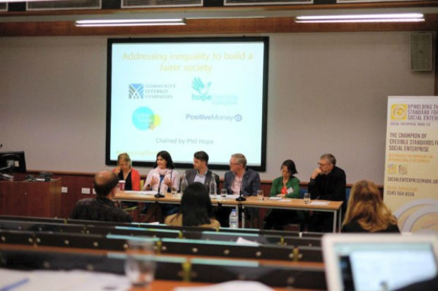 Ceri at head table at the Social Enterprise Scotland awards