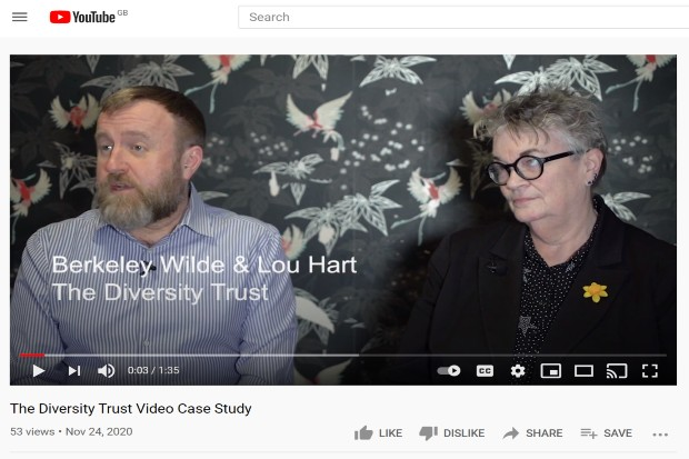 YouTube video of The Diversity Trust case study